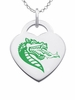 Alabama Birmingham Logo Heart Pendant With Color