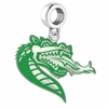 Alabama Birmingham Blazers Silver Logo and School Color Drop Charm