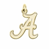 Alabama Crimson Tide 14K Yellow Gold Natural Finish Cut Out Logo Charm