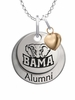Alabama Crimson Tide Alumni Necklace with Heart Accent