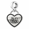 Alabama Crimson Tide Border Heart Dangle Charm