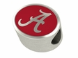 Alabama Crimson Tide Enamel Bead