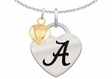 Alabama Crimson Tide Heart Necklace with Heart Accent