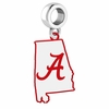 Alabama Crimson Tide Logo Dangle Charm