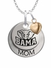 Alabama Crimson Tide MOM Necklace with Heart Charm