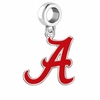 Alabama Crimson Tide Silver Logo and School Color Drop Charm