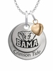 Alabama Crimson Tide with Heart Accent