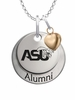 Alabama State Hornets Alumni Necklace with Heart Accent