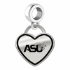 Alabama State Hornets Border Heart Dangle Charm