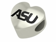 Alabama State Hornets Heart Shaped Bead