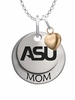 Alabama State Hornets MOM Necklace with Heart Charm