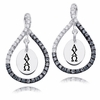 Alpha Chi Omega Black and White Figure 8 Earrings