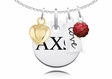 Alpha Chi Omega Cluster Necklace With Heart, Color and Love