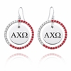 Alpha Chi Omega Color CZ Circle Earrings
