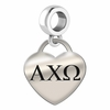 Alpha Chi Omega Heart Drop Charm