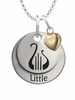 Alpha Chi Omega LITTLE Necklace with Heart Accent