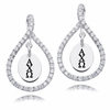 Alpha Chi Omega White CZ Figure 8 Earrings