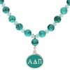 Alpha Delta Phi Turquoise Drop Necklace