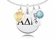 Alpha Delta Pi Cluster Necklace With Heart, Color and Love