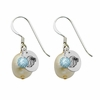 Alpha Delta Pi Color and Cultured Freshwater Pearl Earrings