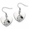Alpha Delta Pi Heart Drop Earrings