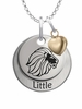 Alpha Delta Pi LITTLE Necklace with Heart Accent