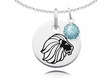 Alpha Delta Pi Necklace with Crystal Ball Accent Charm
