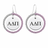 Alpha Delta Pi Pink CZ Circle Earrings