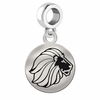 Alpha Delta Pi Sterling Silver Round Drop Charm