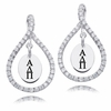 Alpha Delta Pi White CZ Figure 8 Earrings