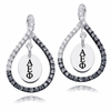 Alpha Epsilon Phi Black and White Figure 8 Earrings