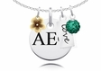 Alpha Epsilon Phi Cluster Necklace With Flower, Color and Love