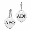 Alpha Epsilon Phi CZ Cluster Heart Earrings