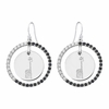 Alpha Epsilon Phi Giraffe Black and White CZ Circle Earrings