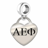 Alpha Epsilon Phi Heart Drop Charm
