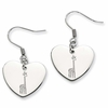 Alpha Epsilon Phi Heart Drop Earrings