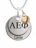 Alpha Epsilon Phi LITTLE Necklace with Heart Accent