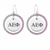 Alpha Epsilon Phi Pink CZ Circle Earrings