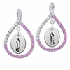 Alpha Epsilon Phi Pink CZ Figure 8 Earrings