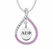 Alpha Epsilon Phi Pink Figure 8 Necklace
