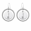Alpha Epsilon Phi White CZ Circle Earrings