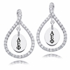 Alpha Epsilon Phi White CZ Figure 8 Earrings