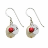 Alpha Gamma Delta Color and Cultured Freshwater Pearl Earrings