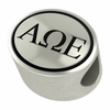 Alpha Omega Epsilon Oval Bead