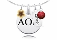 Alpha Omicron Pi Cluster Necklace With Flower, Color and Love