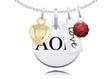 Alpha Omicron Pi Cluster Necklace With Heart, Color and Love
