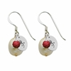 Alpha Omicron Pi Color and Cultured Freshwater Pearl Earrings