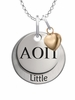 Alpha Omicron Pi LITTLE Necklace with Heart Accent