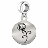 Alpha Omicron Pi Sterling Silver Round Drop Charm