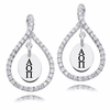 Alpha Omicron Pi White CZ Figure 8 Earrings